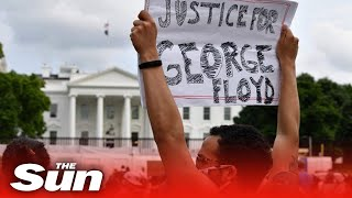 Protesters gather near White House calling for justice George Floyd's death