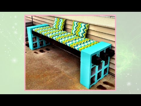 How To Make A Cinderblock Bench   DIY Projects