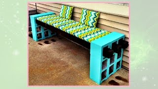 How to Make a Cinderblock Bench - DIY Projects
