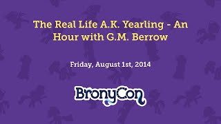The Real Life A.K. Yearling - An Hour with G.M. Berrow