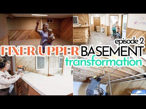 RENOVATING OUR RANCH FIXER UPPER | BACK TO WORK! | BASEMENT TRANSFORMATION | DIY COUNTERTOPS - Denise Bangiyev