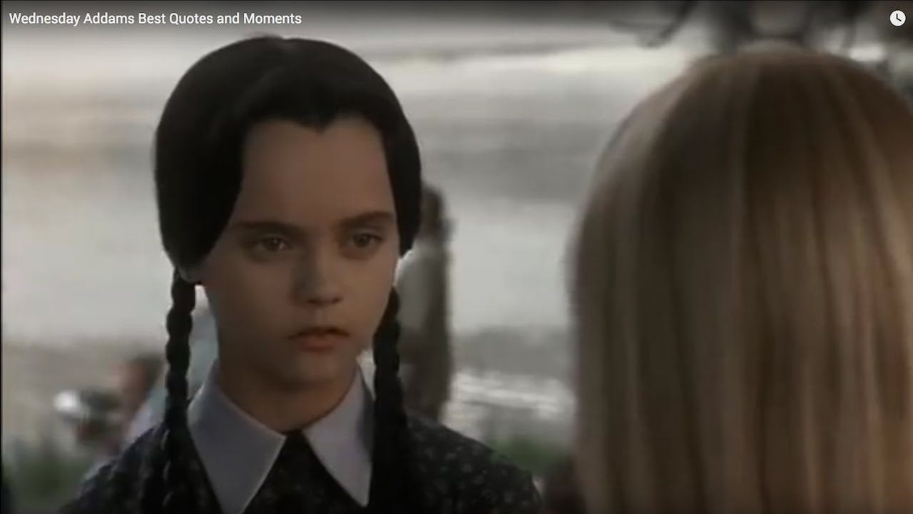 Wednesday Addams Best Quotes And Moments Youtube