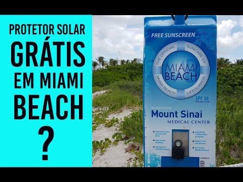 PROTETOR SOLAR GRÁTIS EM MIAMI BEACH - SERÁ QUE É VERDADE  # INBOX MIAMI #