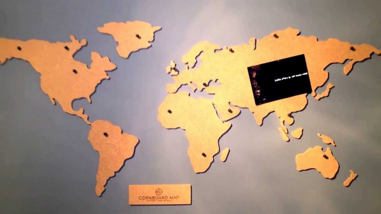 Luckies Of London Corkboard World Map YouTube