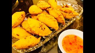 Bánh gối nhân thịt (Fried pillow shaped dumpling) - - Bếp Nhà Nội