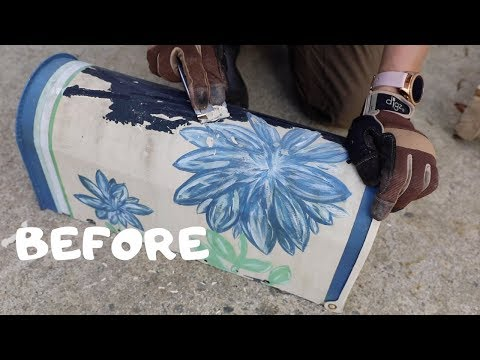 BEFORE and AFTER: DIY Mailbox Makeover With Spray Paint - Thrift Diving