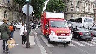 Firemen of Paris, large convoy in emergency.