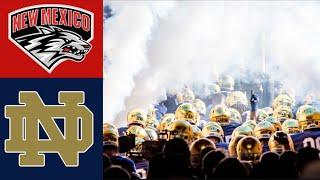 New Mexico Vs 7 Notre Dame Highlights  NCAAF Week 3  College Football Highlights