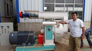 meelko demostracin de maquina peletizadora anular 420 mm pellet mill
