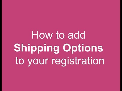 How to Register Multiple Individuals with Shipping