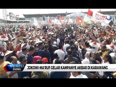 Ditemani Ma'ruf Kampanye di Karawang, Jokowi Ajak Warga Optimis Bangun Indonesia
