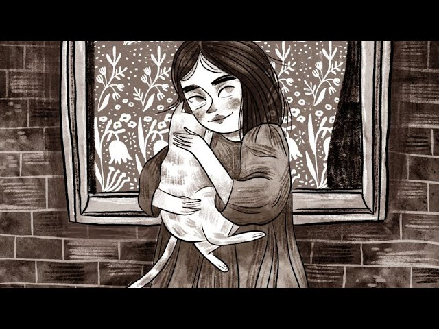 A girl with a cat ~ procreate illustration time lapse ~ by iz ptica