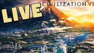Civilization 6 Gathering Storm with 31 Mods (Livestream)