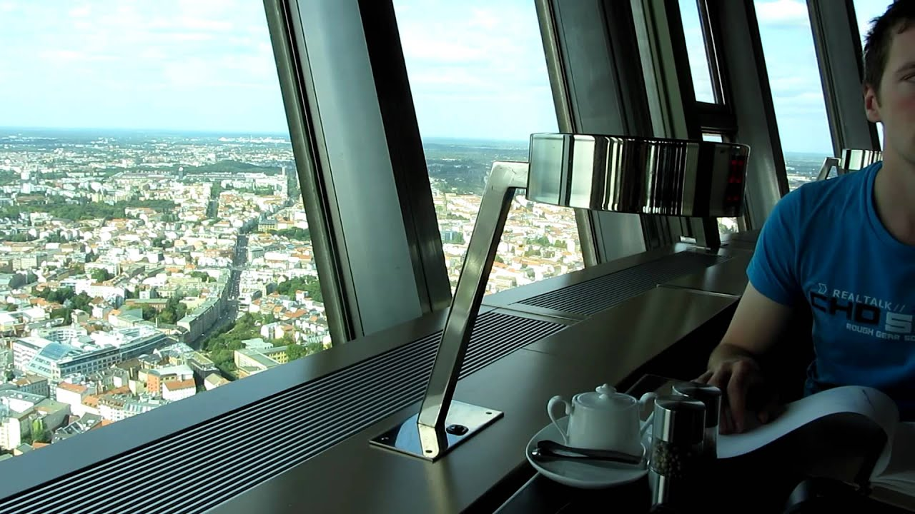 Revolving Restaurant In The Tv Tower Berlin Youtube