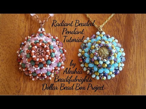 Radiant Beaded Pendant Tutorial