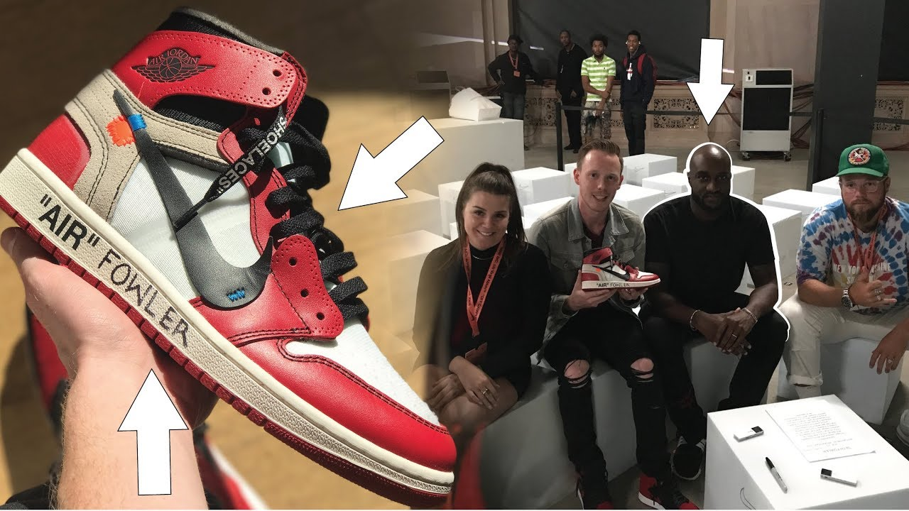 dffe7e650d054b VIRGIL ABLOH CUSTOMIZED MY OFF WHITE AIR JORDAN 1 - YouTube