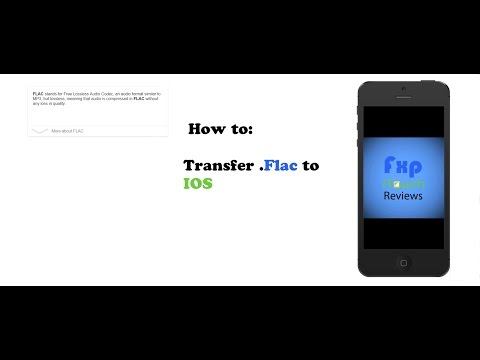 How to transfer FLAC audio files to IOS