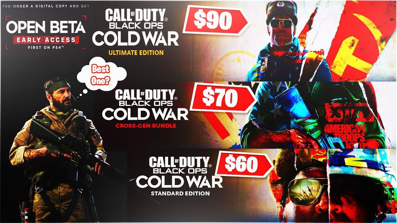 Best Black Ops Cold War Pre Order Standard Cross Gen Bundle Cold War Ultimate Edition Worth It Youtube