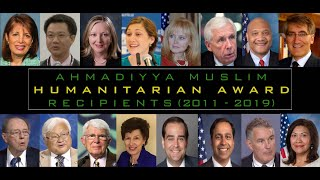 Ahmadiyya Muslim Humanitarian Award (2011-2019)