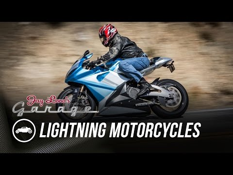 Jay Leno rides the Lightning LS-218 electric motorcycle