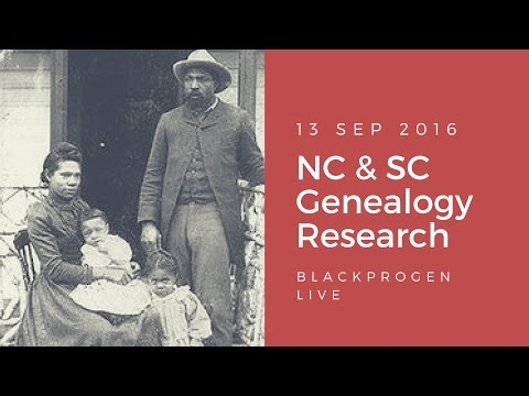 BlackProGen LIVE Ep19: North and South Carolina Genealogy Research