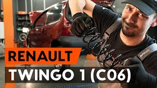 rear left right Brake caliper support bracket change on RENAULT TWINGO I (C06_) - video instructions
