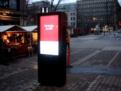 Outdoor display double-sided