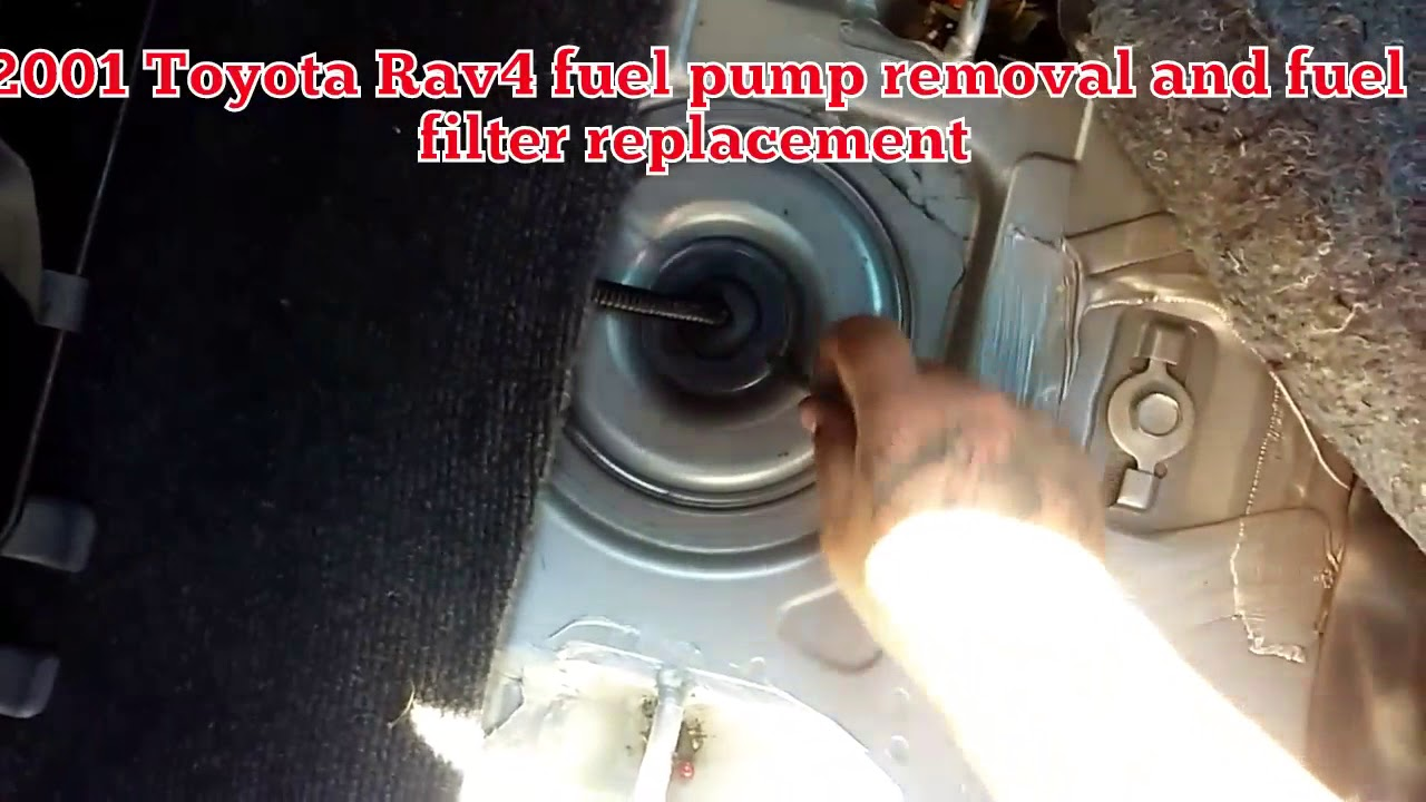 2001 Toyota Rav4 Fuel Filter Fuel pump replacement  YouTube