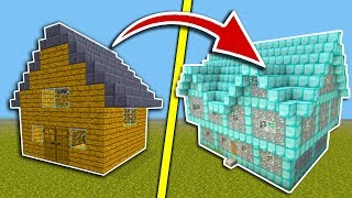 MINECRAFT - HOUSE NOOB vs DIAMOND HOUSE PRO