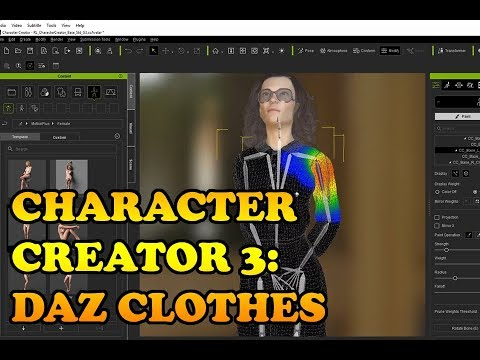 Character Creator 3: Working with DAZ clothes
