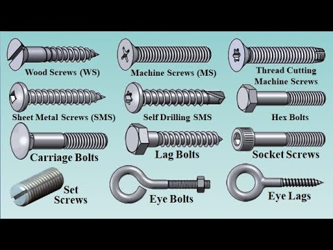 03 Types of Bolts and Screws