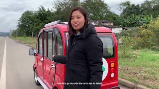 China mini electric car test drive | Introduction | review- Minghong SEV 2