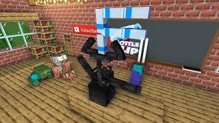 Monster School bottle flip challenge - Minecraft Animation
