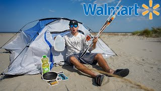 $100 Walmart Survival Fishing Challenge!! (24 Hours)