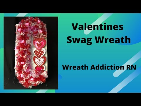 Valentines Wreath Using Candy Cane Forms From Dollar Tree