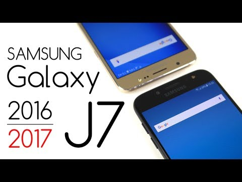 Samsung Galaxy J7 2016 vs Galaxy J7 2017 - Porównanie / Test / Opinie / Comparison