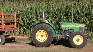 Tractors for Children Kids Toddlers Videos Songs Pulling Working on the Farm John Deere Halloween