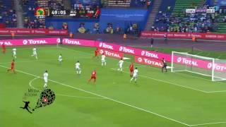 أهداف مبارات تونس والجزائر( 1 - 2 ) كاملة HD كأس أمم إفريقيا 2017