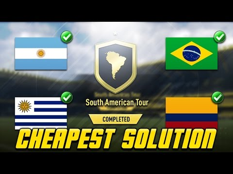 South American Tour SBC Cheapest Solution | Squad Building Challenge | FIFA 17