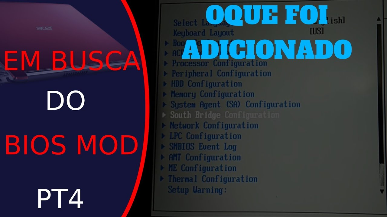 Em busca do BIOS MOD: Conferindo oque foi adicionado (Aspire 5 A515 41G)