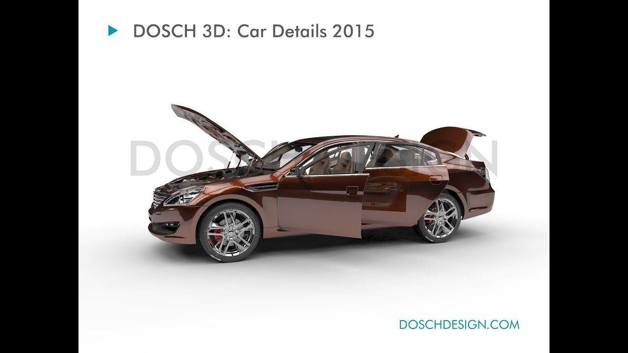 Dosch 3d Car Details 2015 Turntable Animation Youtube