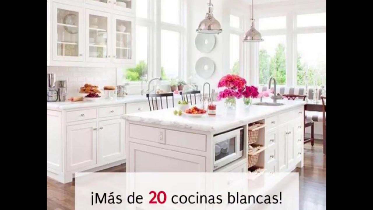 24 Cocinas Blancas Preciosas Youtube - Cocinas-preciosas