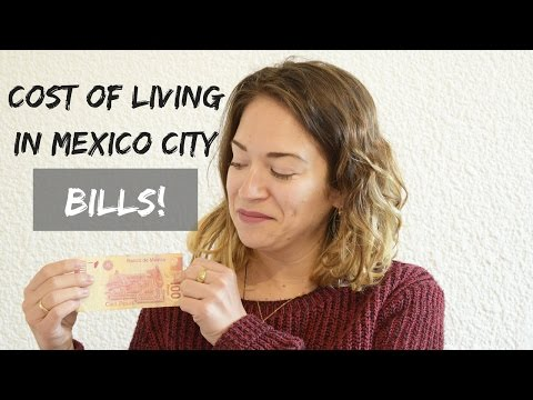 Cost of Living in Mexico City - Bills!