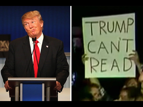 PROOF Donald Trump Can't Read - Is He Dyslexic?