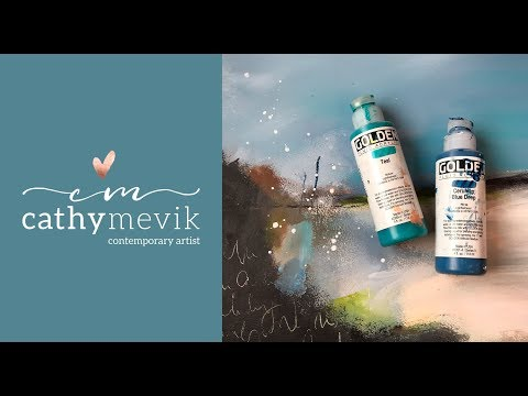 Art Tutorial – Abstract landscape painting