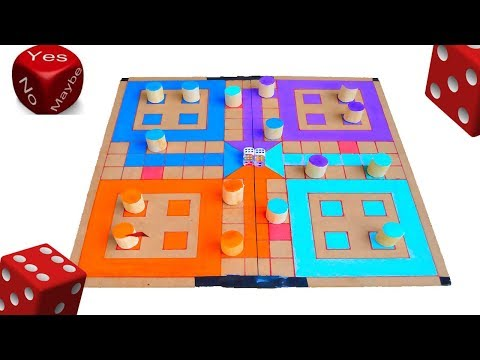 How To Make Ludo Star Game At Home Amazing | DIY
