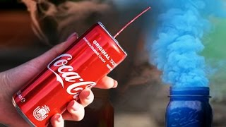 How to make a colored smoke bomb from Coca Cola