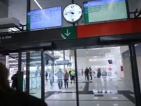 Entrada a la nueva estación de tren de Huelva