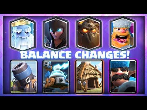NEW BALANCE CHANGE UPDATE!! – Clash Royale – All Balance Changes