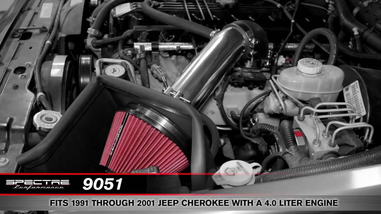 Install a Spectre Air Intake on a 1991-2001 Jeep Cherokee 4.0 ...